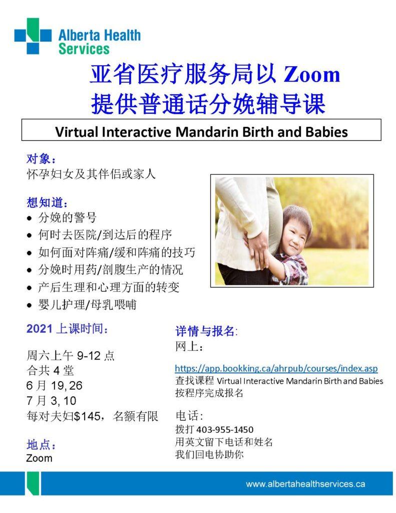 Virtual Interactive Mandarin Birth and Babies